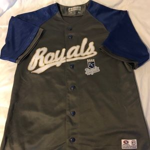 """ROYALS Bling baseball jersey - """"Genuine True Fan"""""""